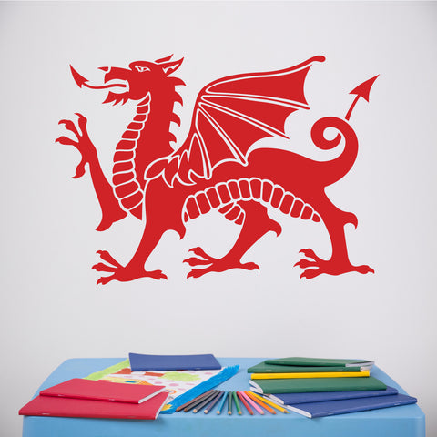 ZygoMax Welsh Dragon Wall Sticker in Red
