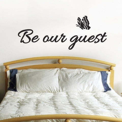 Be Our Guest Wall Sticker - Black