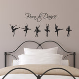 Born to Dance Wall Sticker - Black