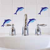 Craftstar Dolphin Stencil on Bathroom Tiles