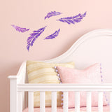 CraftStar Small Feather Stencil in Nursery