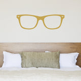 Geek Glasses Wall Sticker - Gold