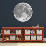 I Love You To The Moon And Back Wall Sticker - Playroom