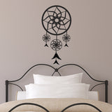 Dream Catcher Bedroom Wall Sticker - Black