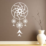 Dream Catcher Bedroom Wall Sticker - White