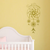 Sweet Dreams Dream Catcher Wall Sticker - Gold