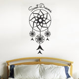 Sweet Dreams Dream Catcher Wall Sticker - Black
