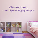Once Upon A Time They Lived Happily Ever After Wall Sticker - Purple