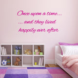 Once Upon A Time They Lived Happily Ever After Wall Sticker - Dark Pink