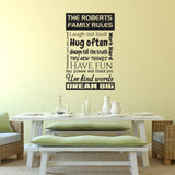 Personalised Family Rules Wall Sticker - Black