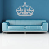 Keep Calm Crown Wall Sticker - Silver
