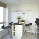 Personalised Family Name Wall Sticker - Silver