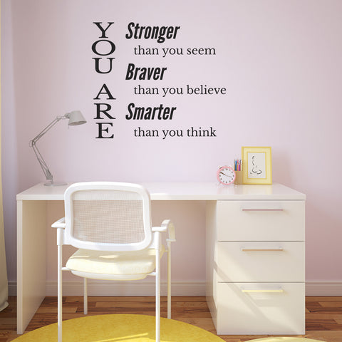 You Are Stronger Than You Seem - Inspirational Wall Sticker