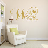 Welcome to Our Home Wall Sticker - Gold