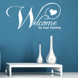Welcome to Our Home Wall Sticker - White