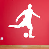 Football Wall Sticker - Free Kick - White