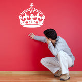 Keep Calm Crown Wall Sticker - White