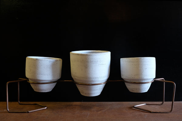 White Washed Planter Trio