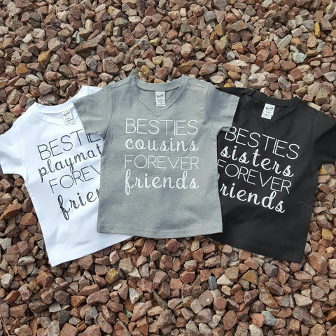 """Friends Forever"" T-shirt - Pink Plush Boutique"