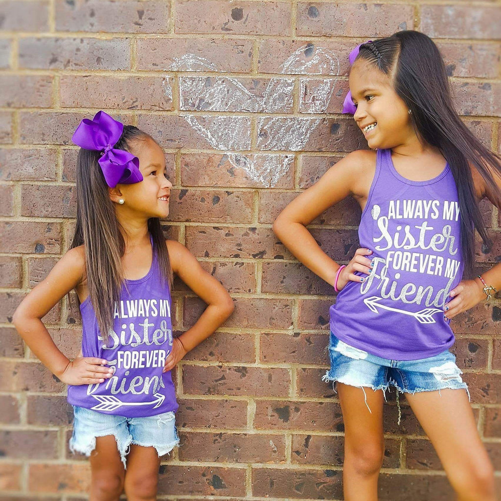 """Best Sisters & Friends"" Tank Set - Pink Plush Boutique"