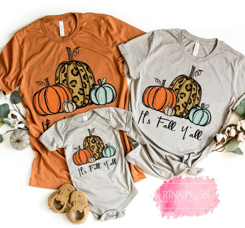 """It's Fall Y'all"" Tshirts"