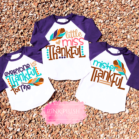 """Be Thankful"" Raglan"