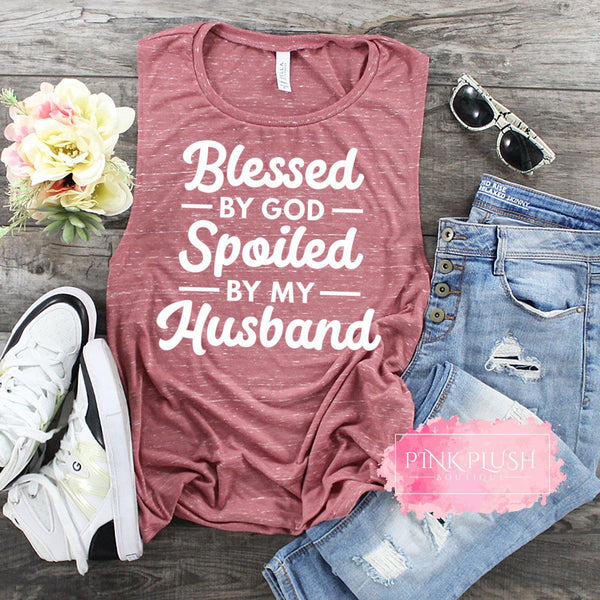 """Blessed and Spoiled"" Tank or Tshirt"