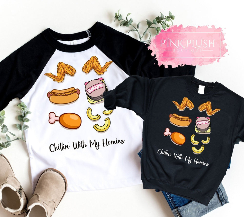 """Chicken Wing. Chicken Wing. Macaroni"" Unisex Tshirt - Pink Plush Boutique"