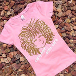 """Curly Hair, Don't Care"" Tshirt - Pink Plush Boutique"