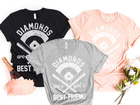 """Diamonds are a Girl's Best Friend"" Tshirt"