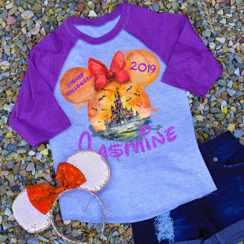 """Disney Halloween"" 👻🎃 Personalized Raglan"