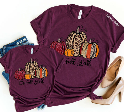 """Fall Y'all"" Mother + Daughter Tshirt"