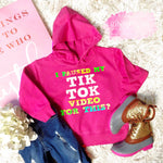 """I paused my tik tok video for THIS? Sweatshirt - Pink Plush Boutique"