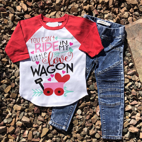 """You Can't ride My Love Wagon"" Raglan"