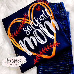 """Softball Vibes"" Tshirts"