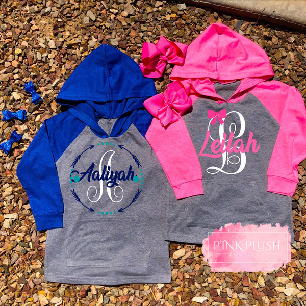 """Jacie"" Personalized Hooded Lightweight Jacket"