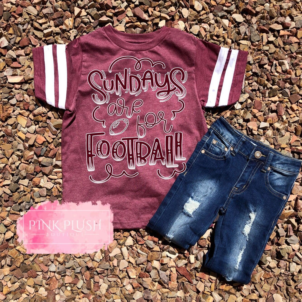 """ Sundays are for Football 🏈 ""  Sparkle Jersey Tee"