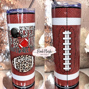 "Load image into Gallery viewer, ""Football Mom"" 20 oz. Tumbler"