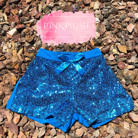 Royal Blue Sparkle Shorts