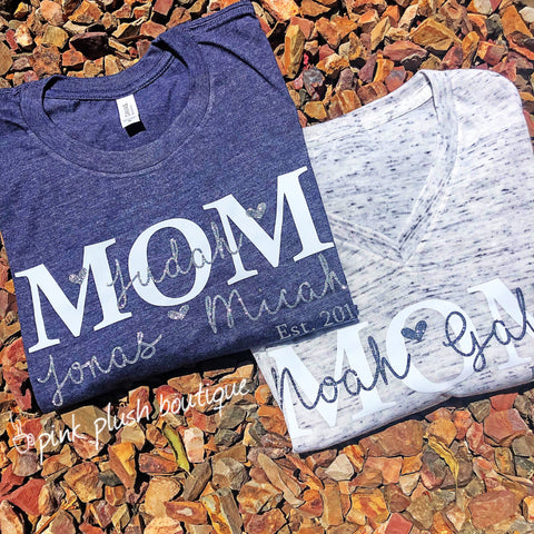 """MOM"" Personalized T-shirt"