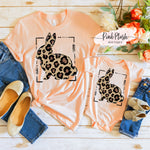 """Leopard Bunny"" Mother + Daughter Tshirt"
