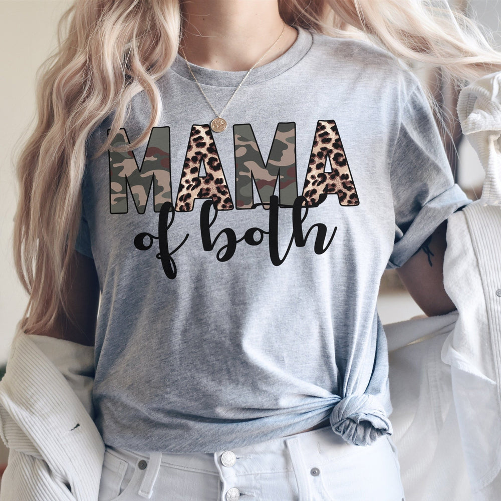 """Mama of Both"" Tshirt - Pink Plush Boutique"