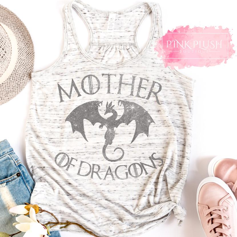 """Mother of Dragons"" Glitter Tank"