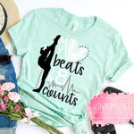 """My Heart Beats in 8 Counts"" Tshirt - Pink Plush Boutique"
