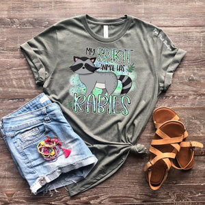 """My spirit Animal has Rabies"" Tshirt - Adult - Pink Plush Boutique"