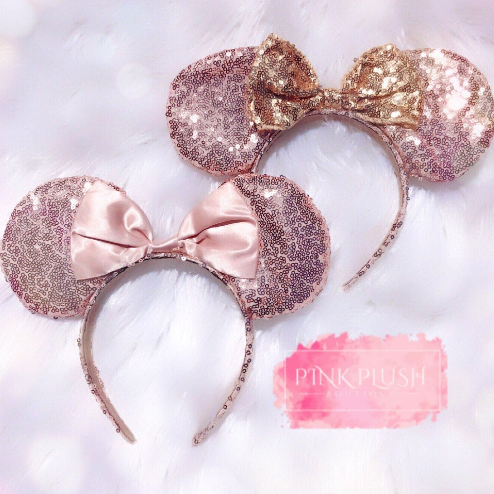 Rose Gold Minnie Ears - Pink Plush Boutique