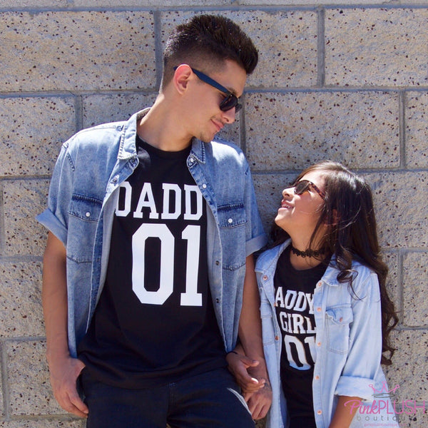 "Daddy + Daughter 01"" Tshirts - Pink Plush Boutique"