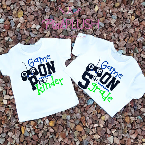 """Game on"" Tshirt (Pre-K - 5th) - Pink Plush Boutique"
