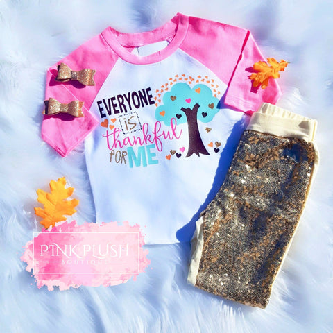 """Thankful for ME!"" Sparkle Raglan"