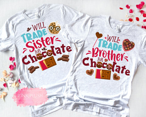 """Will trade for CHOCOLATE"" Tshirt"